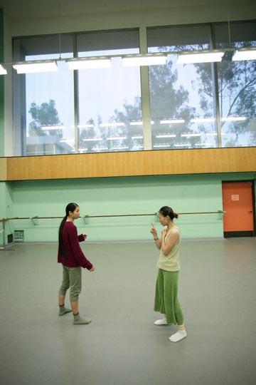 CalArts MFA Dance student Wen-Chu Yang's Thesis Dance rehearsal.
