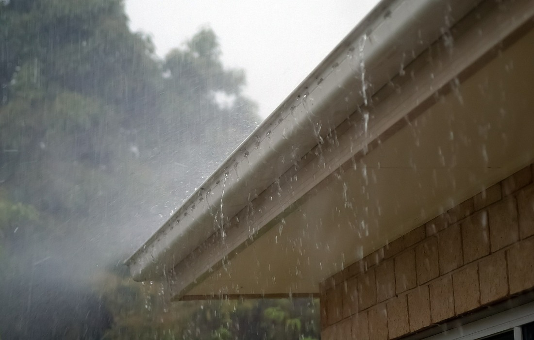 Rain on Gutter