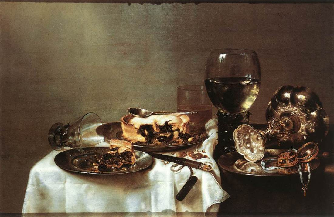 Heda,_Willem_Claeszoon_-_Breakfast_Table_with_Blackberry_Pie_-_WGA