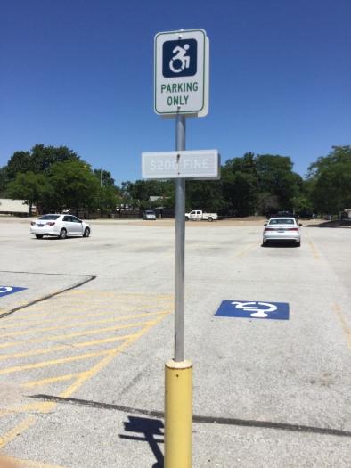 West_Park_station_handicapped_sign